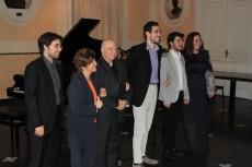 Matteo Camponero (al centro) al suo concerto del 6 maggio 2018 n